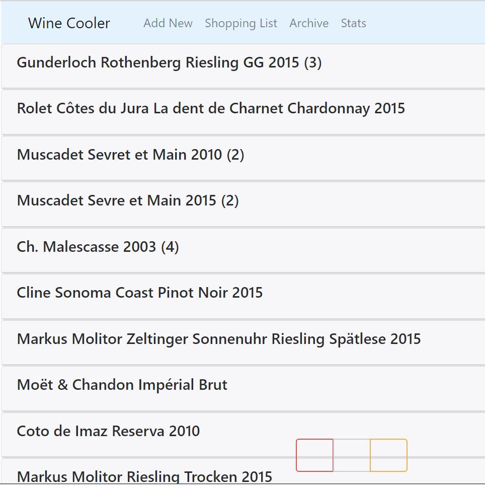 Wine Cooler App